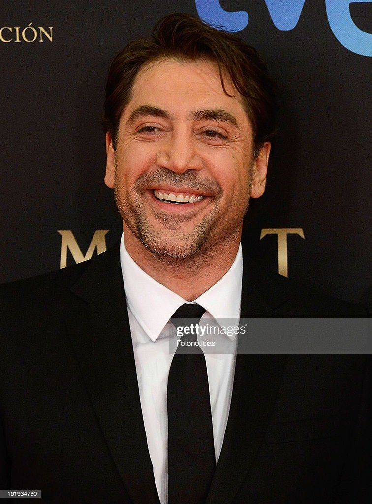 <a gi-track='captionPersonalityLinkClicked' href=/galleries/search?phrase=Javier+Bardem&family=editorial&specificpeople=209334 ng-click='$event.stopPropagation()'>Javier Bardem</a> attends Goya Cinema Awards 2013 at Centro de Congresos Principe Felipe on February 17, 2013 in Madrid, Spain.