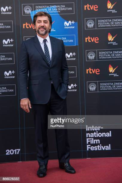 Javier Bardem attends 'Loving Pablo' photocall during 65th San Sebastian Film Festival on September 30 2017 in San Sebastian Spain