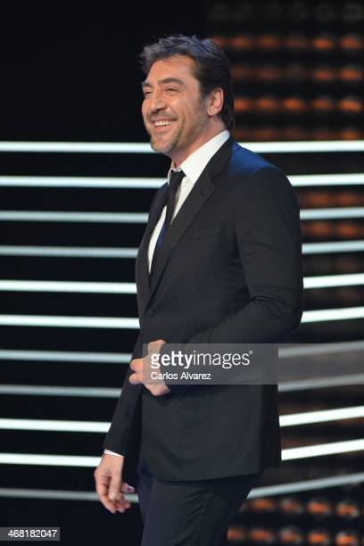 Javier Bardem attends the 28th Goya Cinema Awards 2014 ceremony at Centro de Congresos Principe Felipe on February 9 2014 in Madrid Spain