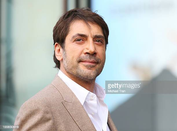 Javier Bardem attends the ceremony honoring him with a Star on The Hollywood Walk of Fame held on November 8 2012 in Los Angeles California