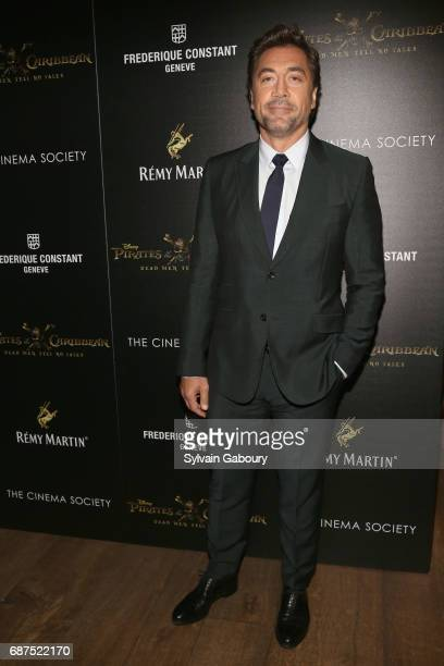 Javier Bardem attends The Cinema Society with Remy Martin Frederique Constant host a screening of 'Pirates of the Caribbean Dead Men Tell No Tales'...