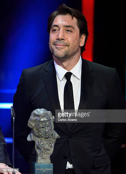 Javier Bardem attends the Goya Cinema Awards 2013 ceremony at Centro de Congresos Principe Felipe on February 17 2013 in Madrid Spain