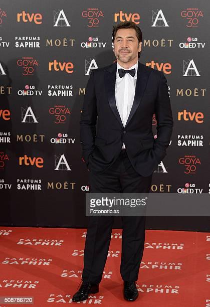 Javier Bardem attends the Goya Cinema Awards 2016 Ceremony at Madrid Marriott Auditorium on February 6 2016 in Madrid Spain