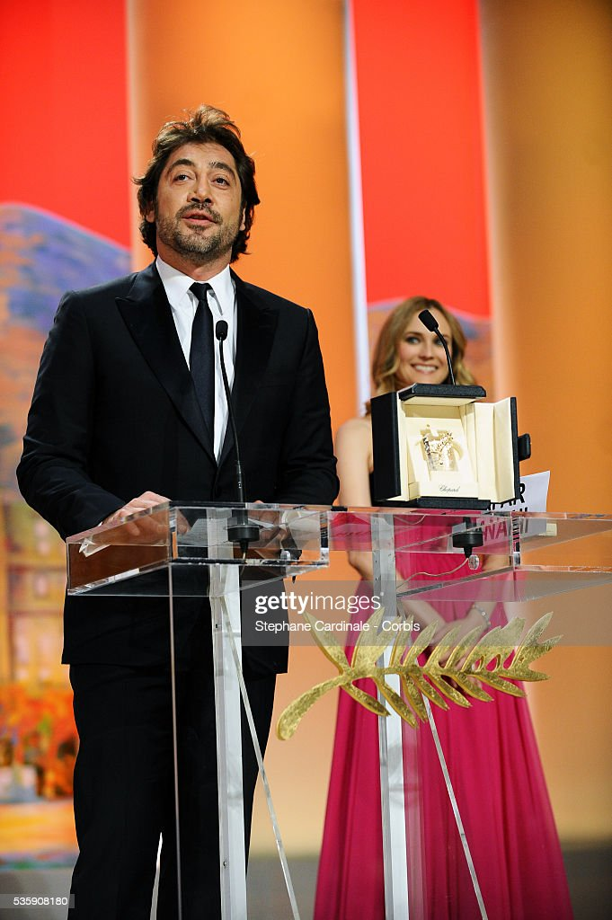 Javier Bardem attends the 'Palme d'Or Award Ceremony' of the 63rd Cannes International Film Festival