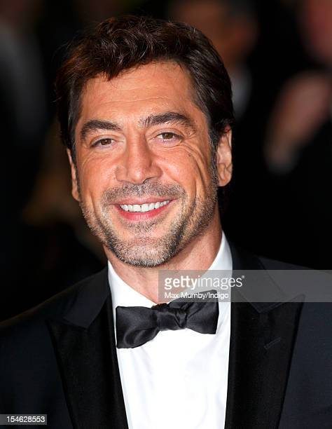 Javier Bardem attends the Royal World Premiere of 'Skyfall' at Royal Albert Hall on October 23 2012 in London England