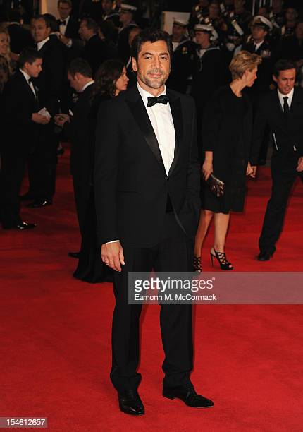 Javier Bardem attends the Royal World Premiere of 'Skyfall' at the Royal Albert Hall on October 23 2012 in London England