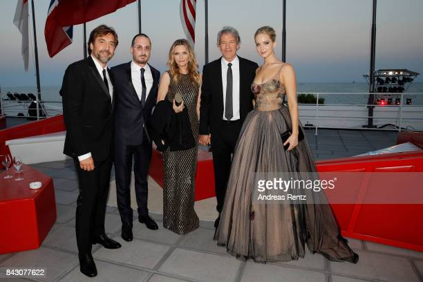 Javier Bardem Darren Aronofsky Michelle Pfeiffer David E Kelley and Jennifer Lawrence attend the Gala Screening and World Premiere of 'mother' during...