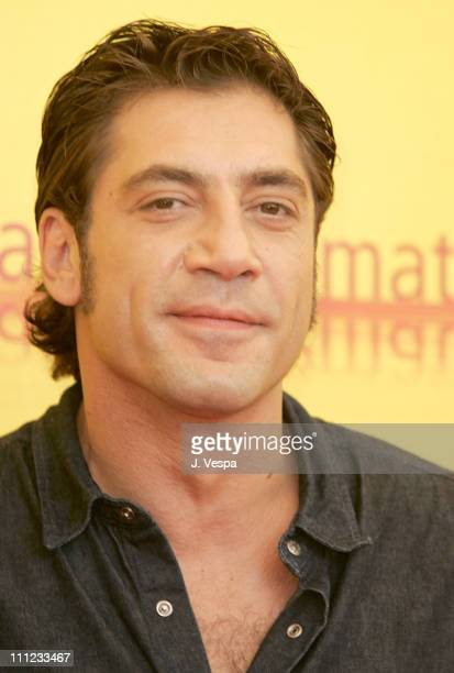 Javier Bardem during 2004 Venice Film Festival 'Mar Adentro' Photo Call at Casino in Venice Lido Italy