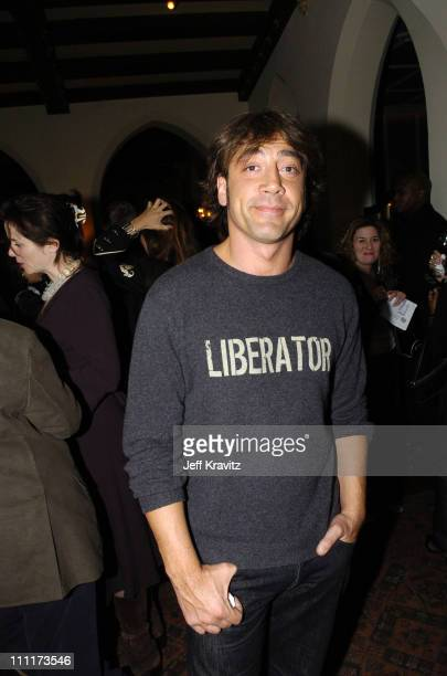 Javier Bardem during 2005 HBO PreGolden Globe Awards Party in Los Angeles California United States