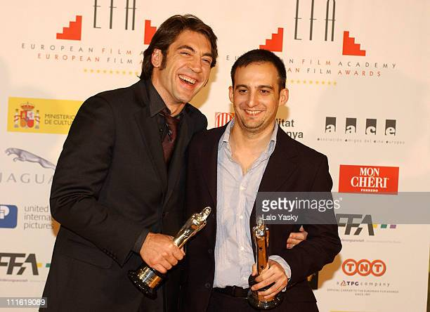 Javier Bardem EFA Award as Best Actor for 'The Sea Inside' and Alejandro Amenabar EFA Award as Best Director for 'The Sea Inside'
