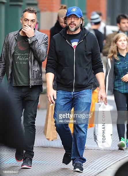 Javier Bardem is seen in Soho on October 22 2013 in New York City