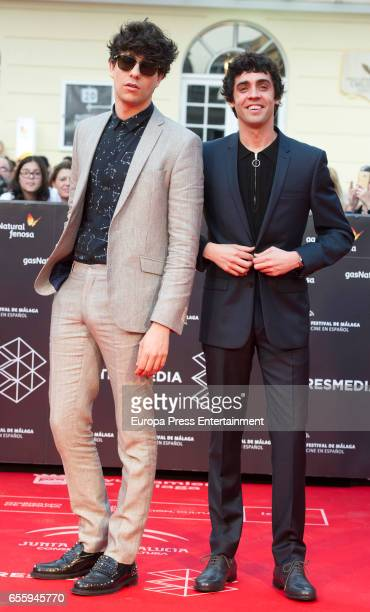 Javier Calvo and Jaier Ambrossi attend the 20th Malaga Film Festival 2017 opening ceremony at the Cervantes Theater on March 17 2017 in Malaga Spain