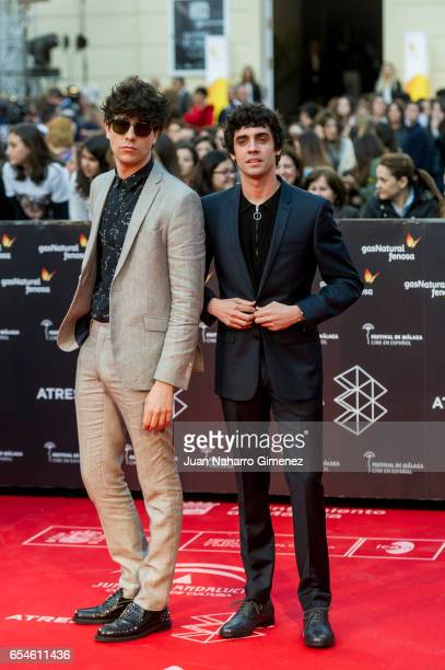Javier Calvo and Jaier Ambrossi attend the red carpet of the Gala Inaguration during the 20th Malaga Spanish Film Festival at the Cervantes Theater...