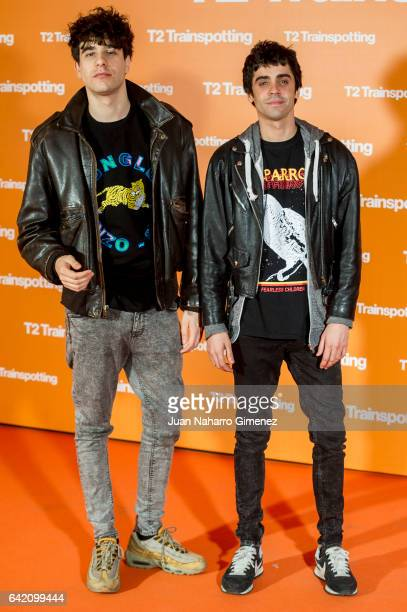 Javier Calvo and Javier Ambrossi attends 'T2 Trainspotting' premiere at Sony Pictures building on February 16 2017 in Madrid Spain