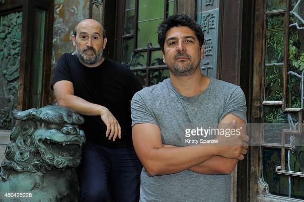 Javier Camara and Cesc Gay pose during the 'Una Pistola En Cada Mano' Paris Photocall at Cinema La Pagode on June 11 2014 in Paris France