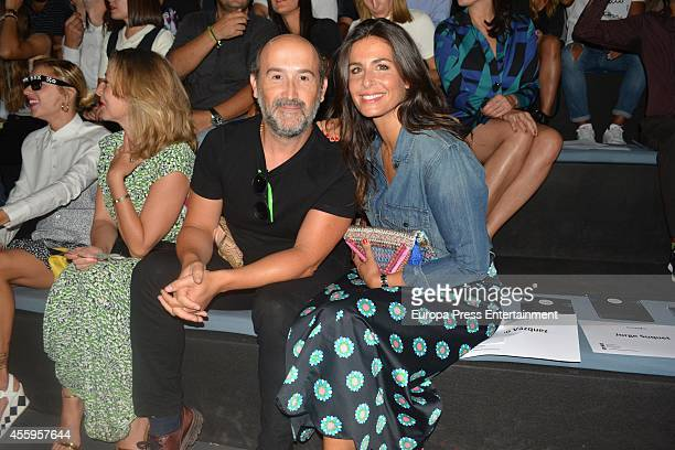 Javier Camara and Nuria Roca attend Mercedes Benz Fashion Week Madrid at Ifema on September 14 2014 in Madrid Spain