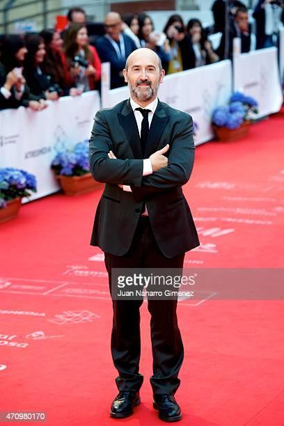 Javier Camara attends 'Aprendiendo a Conducir' premiere during the 18th Malaga Spanish Film Festival at Cervantes Theater on April 24 2015 in Malaga...