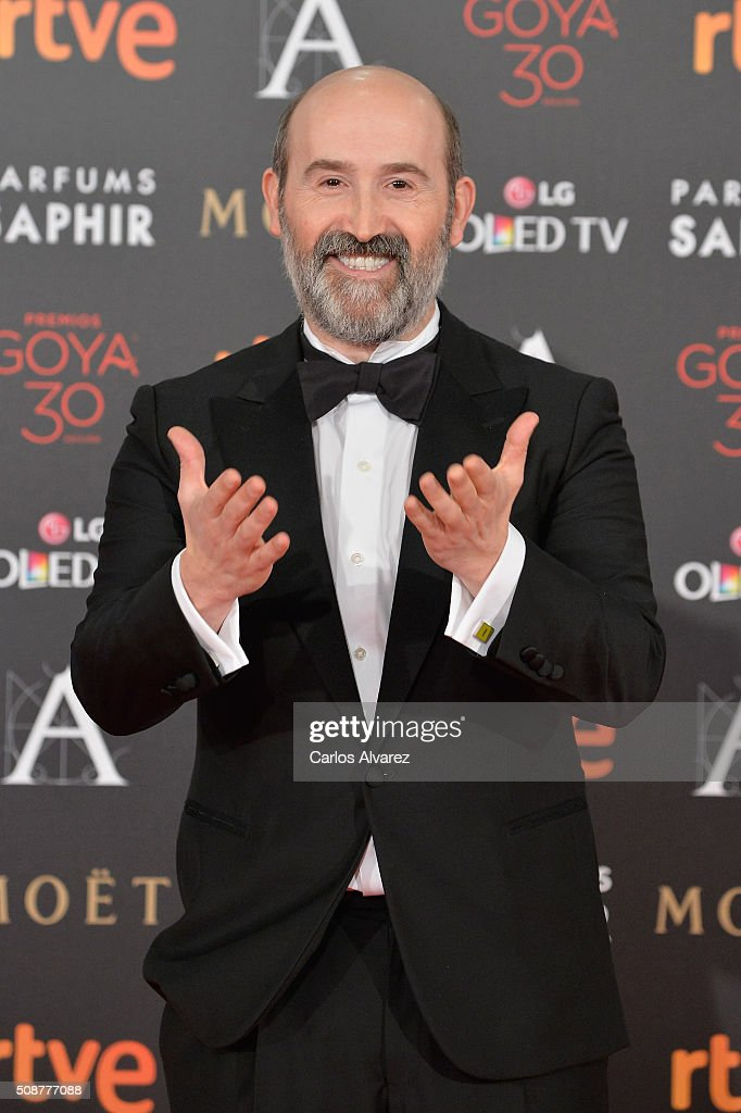<a gi-track='captionPersonalityLinkClicked' href=/galleries/search?phrase=Javier+Camara&family=editorial&specificpeople=226631 ng-click='$event.stopPropagation()'>Javier Camara</a> attends Goya Cinema Awards 2016 at Madrid Marriott Auditorium on February 6, 2016 in Madrid, Spain.