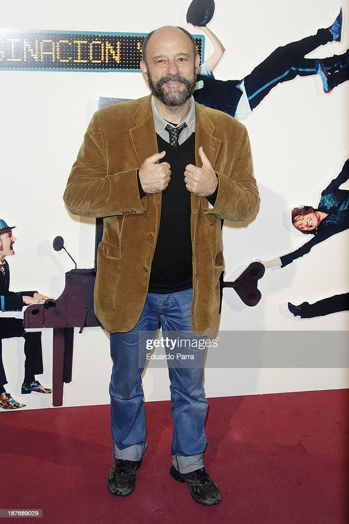 Javier Cansado attends Alex O'Dogherty new album presentation party photocall at La Latina theatre on November 11, 2013 in Madrid, Spain.