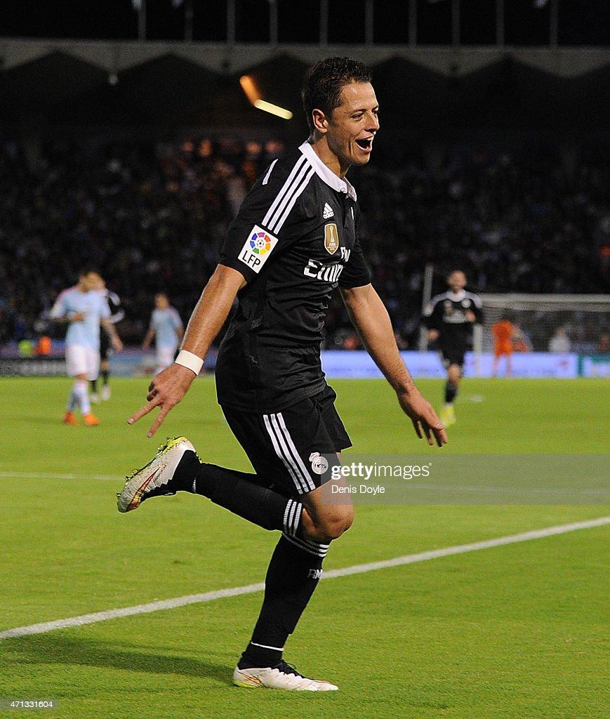 Javier Hernandez Real Madrid: Celta Vigo V Real Madrid CF - La Liga