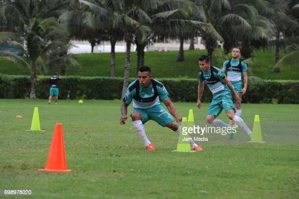 Javier Cortes of Santos makes drills during the Pre Season training for the Torneo Apertura 2017 Liga MX at Hotel Iberostar on June 20 2017 in Cancun...