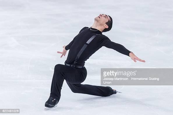 Javier Fernandez of Spain competes during Men's Short Program on day one of the Trophee de France ISU Grand Prix of Figure Skating at Accorhotels...