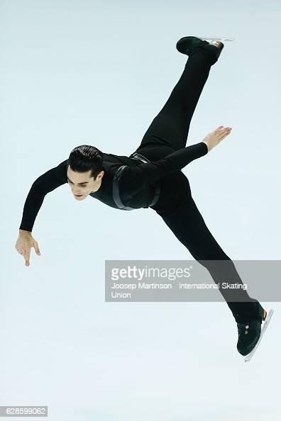 Javier Fernandez of Spain competes during Senior Men's Short Program on day one of the ISU Junior and Senior Grand Prix of Figure Skating Final at...
