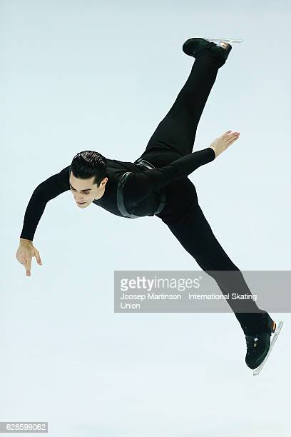 Javier Fernandez of Spain competes during Senior Men's Short Program on day one of the ISU Junior and Senior Grand Prix of Figure Skating Final at...