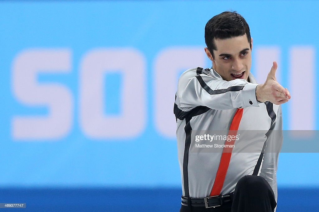 Javier Fernandez of Spain competes during the Figure Skating Men's Free Skating on day seven of the Sochi 2014 Winter Olympics at Iceberg Skating Palace on February 14, 2014 in Sochi, Russia.