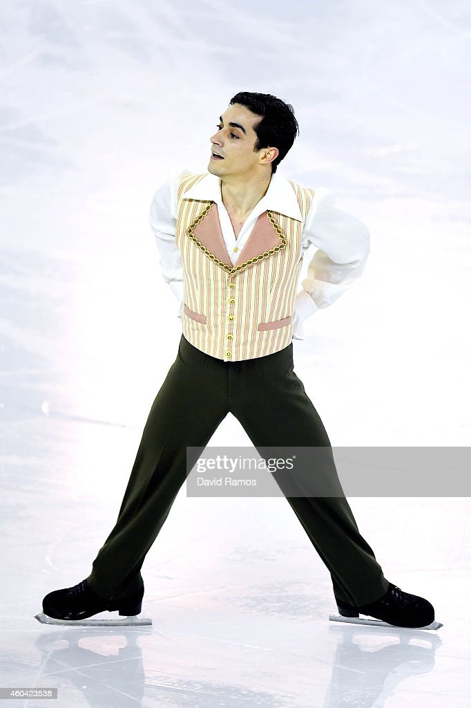Javier Fernandez of Spain competes in the Ice Men Free Skating Final during day three of the ISU Grand Prix of Figure Skating Final 2014/2015 at Barcelona International Convention Centre on December 13, 2014 in Barcelona, Spain.