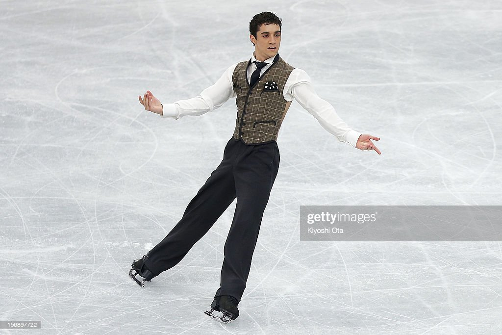 Javier Fernandez of Spain competes in the Men Free Skating during day two of the ISU Grand Prix of Figure Skating NHK Trophy at Sekisui Heim Super Arena on November 24, 2012 in Rifu, Japan.