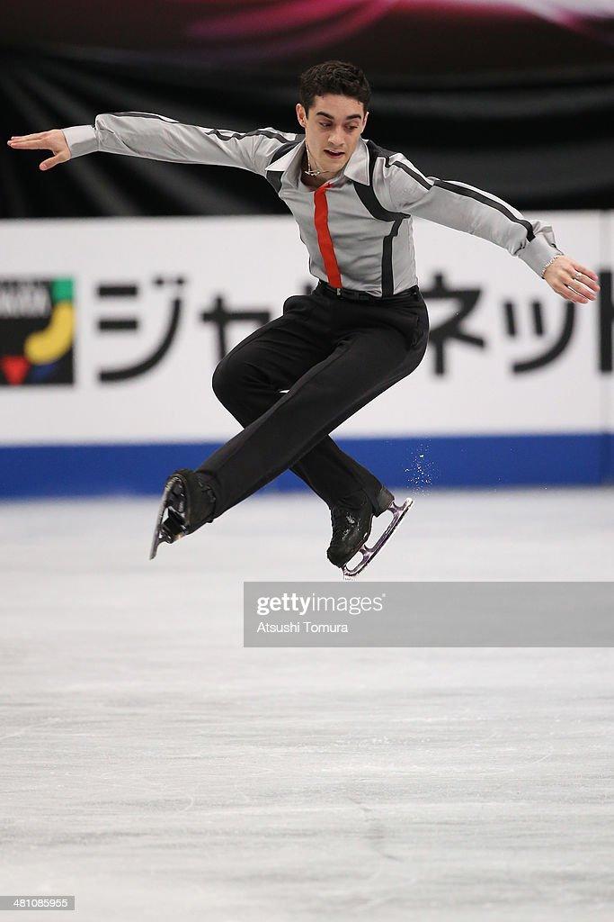 Javier Fernandez of Spain competes in the Men's Free Skating during ISU World Figure Skating Championships at Saitama Super Arena on March 28, 2014 in Saitama, Japan.