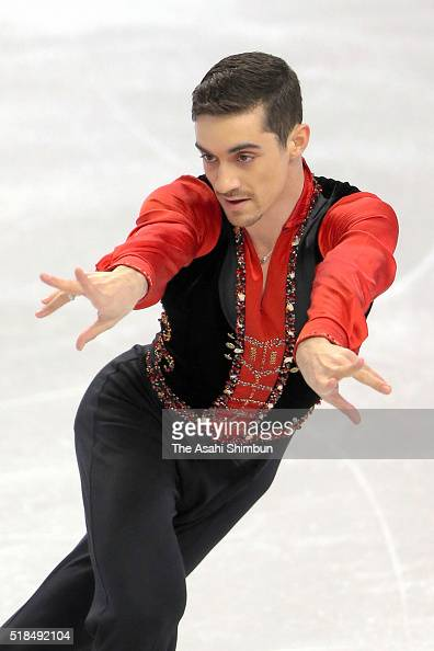 Javier Fernandez of Spain competes in the Men's Short program during day 3 of the ISU World Figure Skating Championships 2016 at TD Garden on March...
