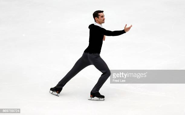 Javier Fernandez of Spain competes in the Men's Short Program on day one of the ISU Grand Prix of Figure Skating at on November 3 2017 in Beijing...