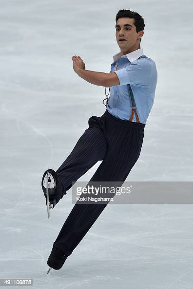 Javier Fernandez of Spain competes in the Men's Singles Free Skating during the Japan Open 2015 Figure Skating at Saitama Super Arena on October 3...