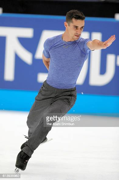 Javier Fernandez of Spain in action during a training session ahead of the figure skate Japan Open 2016 at the Saitama Super Arena on September 30...