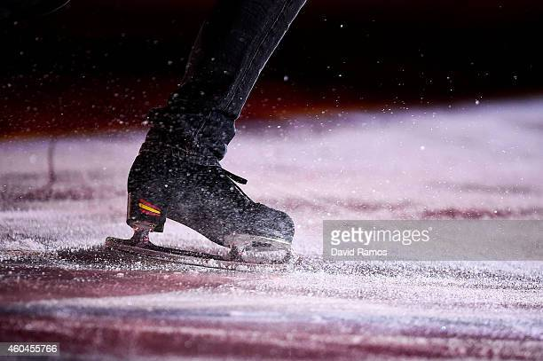 Javier Fernandez of Spain performs during day four of the ISU Grand Prix of Figure Skating Final 2014/2015 at Barcelona International Convention...