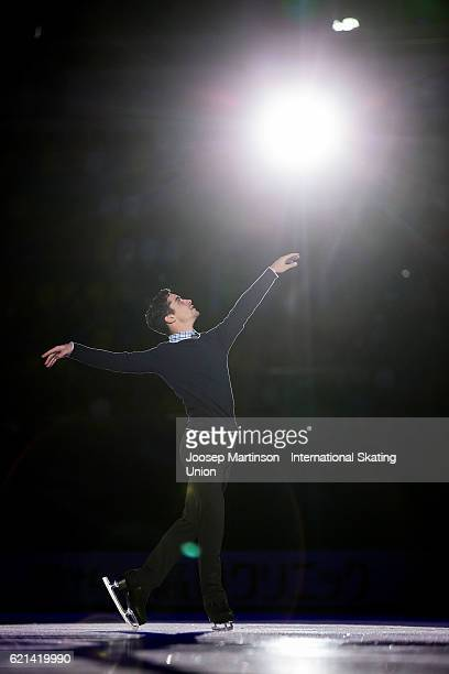 Javier Fernandez of Spain performs during gala exhibition on day three of the Rostelecom Cup ISU Grand Prix of Figure Skating at Megasport Ice Palace...