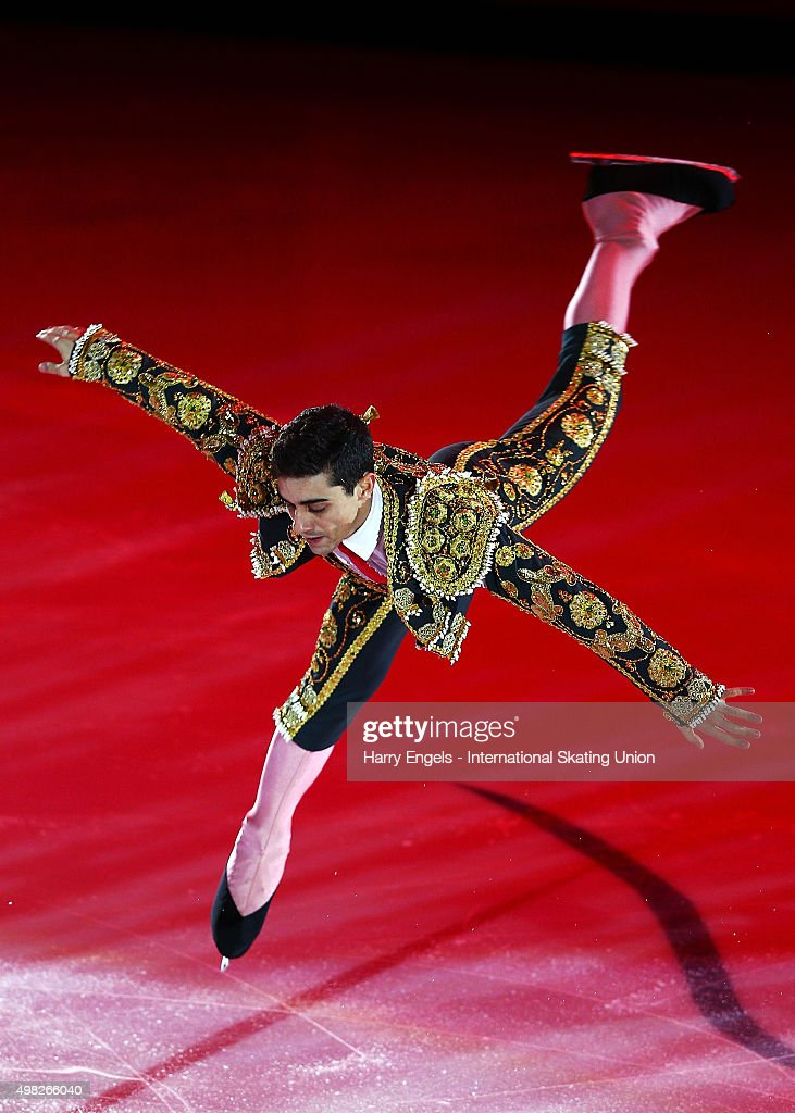 Javier Fernandez of Spain skates during the Exhibition Gala on day three of the Rostelecom Cup ISU Grand Prix of Figure Skating 2015 at the Luzhniki Palace of Sports on November 22, 2015 in Moscow, Russia.