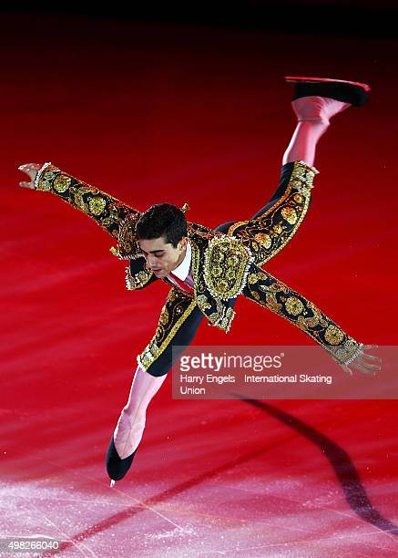 Javier Fernandez of Spain skates during the Exhibition Gala on day three of the Rostelecom Cup ISU Grand Prix of Figure Skating 2015 at the Luzhniki...