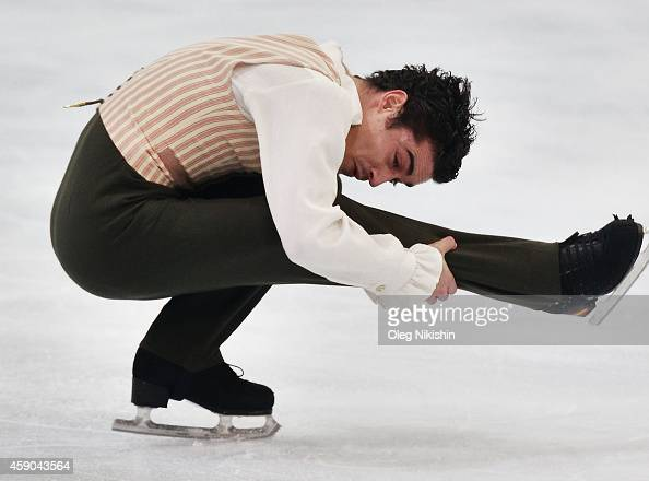Javier Fernandez of Spain skates in the Men's Free Skate during the ISU Rostelecom Cup of Figure Skating 2014 on November 15 2014 in Moscow Russia