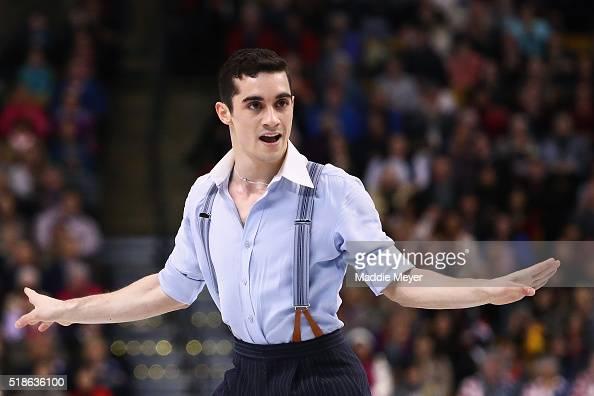 Javier Fernandez of Spain skates in the Men's Free Skate program during Day 5 of the ISU World Figure Skating Championships 2016 at TD Garden on...