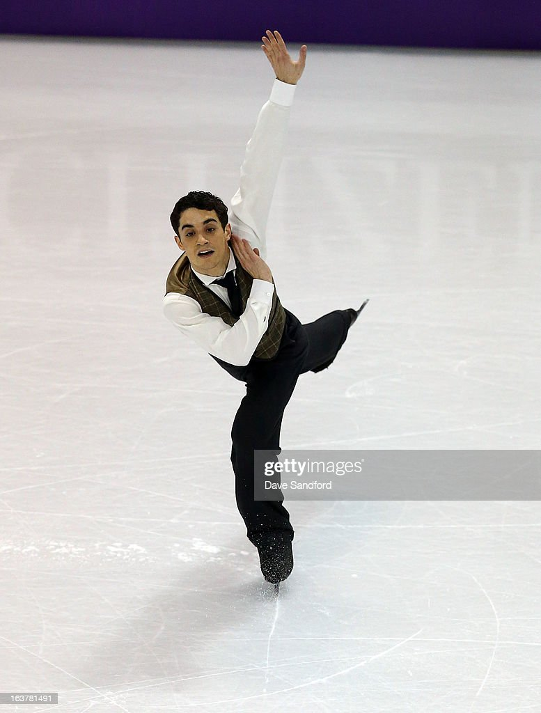 Javier Fernandez of Spain skates in the Mens Free Skating Program during the 2013 ISU World Figure Skating Championships at Budweiser Gardens on March 15, 2013 in London, Ontario, Canada.