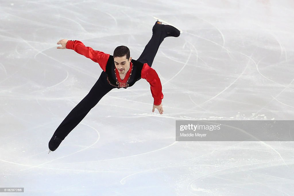 Javier Fernandez of Spain skates in the Men's Short program during day 3 of the ISU World Figure Skating Championships 2016 at TD Garden on March 30, 2016 in Boston, Massachusetts.