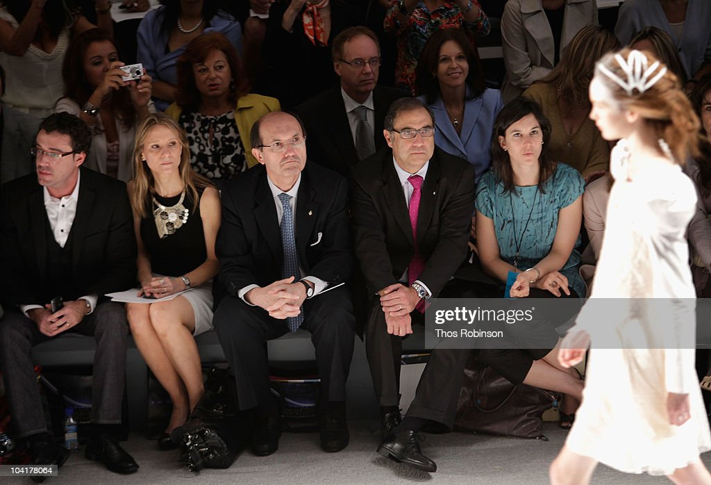 Javier Goicoechea, Debora Bandura, Ricardo Larriera, Jorge Arguello and Susan Sega attend the Argentina Group Show Spring 2011 fashion show during Mercedes-Benz Fashion Week at The Stage at Lincoln Center on September 16, 2010 in New York City.