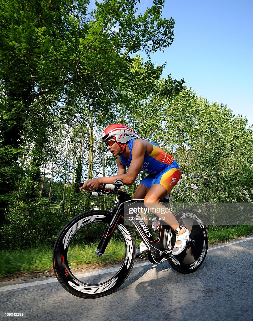 Javier Gomez of Spain during the Challenge Family Triathlon Barcelona on May 19, 2013 in Barcelona, Spain.