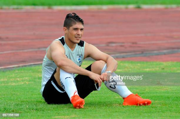 Javier Guemez of Queretaro looks on during the Pre Season training match for the Torneo Apertura 2017 Liga MX between Atlante and Queretaro at Andres...