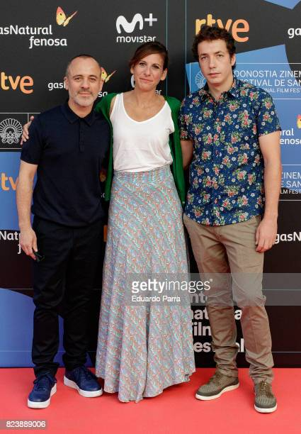 Javier Gutierrez Malena Alterio and Vito Sanz attend the presentation of San Sebastian Film Festival 2017 programme on July 28 2017 in Madrid Spain