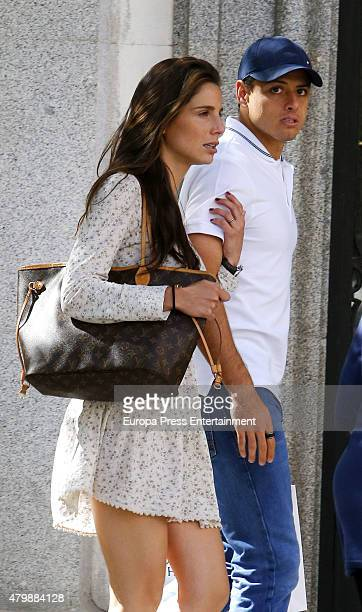 Javier Hernandez 'Chicharito' and Lucia Villalon are seen on May 26 2015 in Madrid Spain