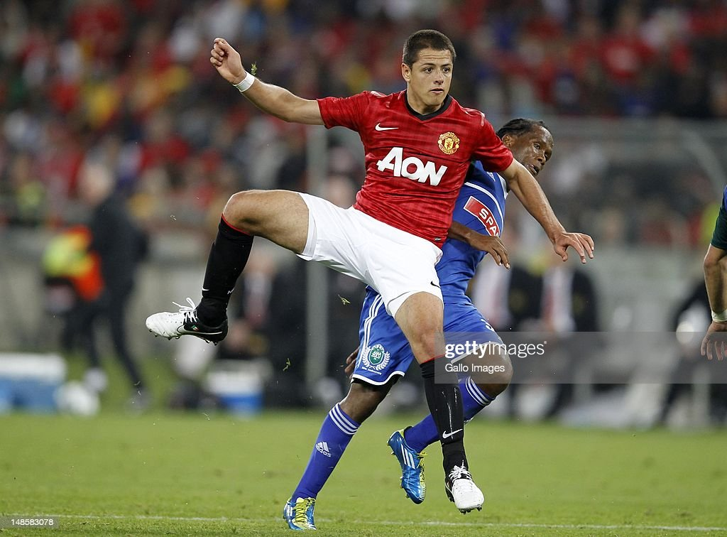 Javier Hernandez during the MTN Football Invitational match between Amazulu and Manchester United from Moses Mabhida Stadium on July 18, 2012 in Durban, South Africa